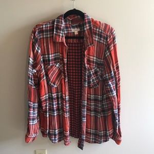 Great Fall Flannel, Orange/Cream/Navy Merona Brand